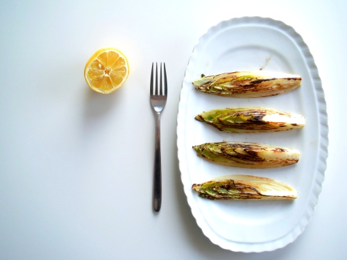 1grilled endive with lemon